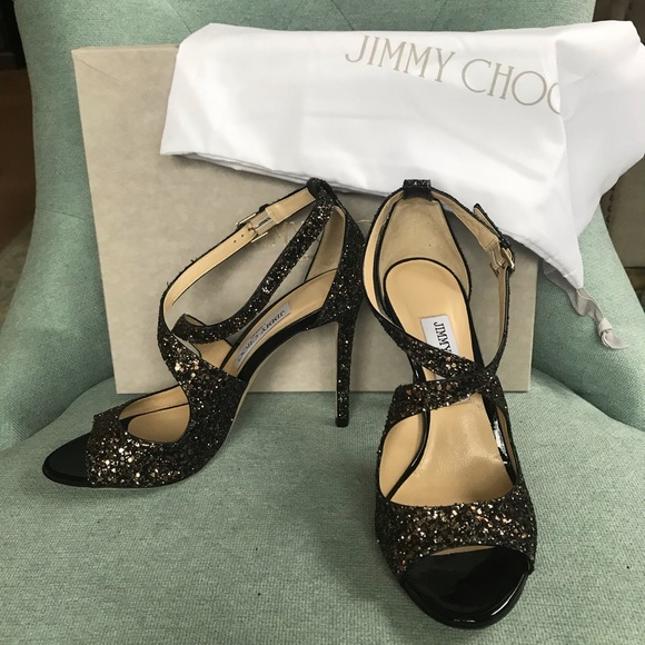 Jimmy Choo Shoes - NWB Jimmy Choo Glitter Heels